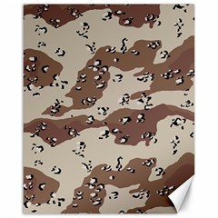Camouflage Army Disguise Grey Brown Canvas 16  X 20