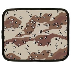 Camouflage Army Disguise Grey Brown Netbook Case (XXL)