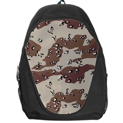 Camouflage Army Disguise Grey Brown Backpack Bag