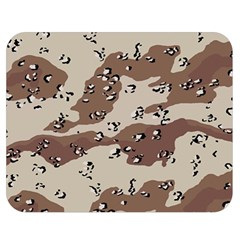 Camouflage Army Disguise Grey Brown Double Sided Flano Blanket (medium)