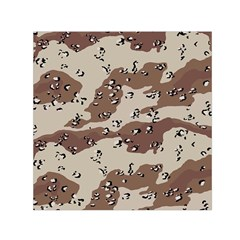 Camouflage Army Disguise Grey Brown Small Satin Scarf (square)