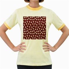 Animals Rabbit Kids Red Circle Women s Fitted Ringer T Shirts