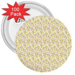 Branch Spring Texture Leaf Fruit Yellow 3  Buttons (100 pack)