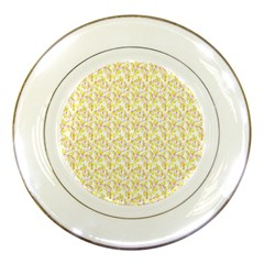 Branch Spring Texture Leaf Fruit Yellow Porcelain Plates