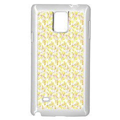 Branch Spring Texture Leaf Fruit Yellow Samsung Galaxy Note 4 Case (white)