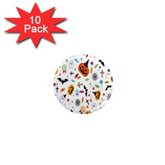 Candy Pumpkins Bat Helloween Star Hat 1  Mini Magnet (10 Pack)