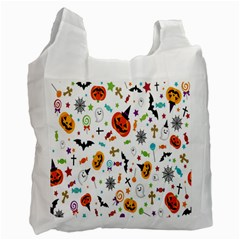 Candy Pumpkins Bat Helloween Star Hat Recycle Bag (Two Side)