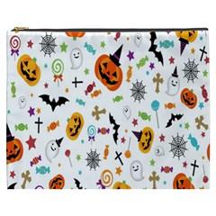 Candy Pumpkins Bat Helloween Star Hat Cosmetic Bag (XXXL)