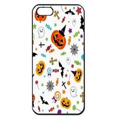 Candy Pumpkins Bat Helloween Star Hat Apple iPhone 5 Seamless Case (Black)