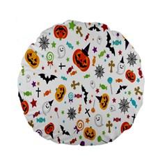 Candy Pumpkins Bat Helloween Star Hat Standard 15  Premium Flano Round Cushions