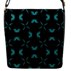 Chevron Blue Wave Flap Messenger Bag (s)