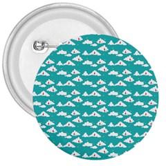 Cloud Blue Sky Sea Beach Bird 3  Buttons