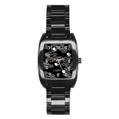 Cloud Black Night Stainless Steel Barrel Watch