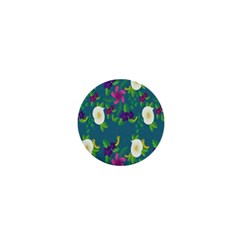 Caterpillar Flower Floral Leaf Rose White Purple Green Yellow Animals 1  Mini Buttons