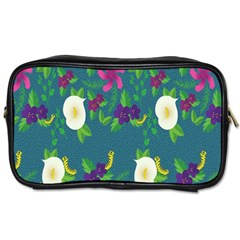Caterpillar Flower Floral Leaf Rose White Purple Green Yellow Animals Toiletries Bags 2-Side