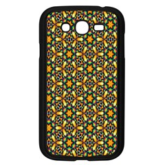 Caleidoskope Star Glass Flower Floral Color Gold Samsung Galaxy Grand Duos I9082 Case (black)