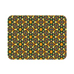 Caleidoskope Star Glass Flower Floral Color Gold Double Sided Flano Blanket (mini)