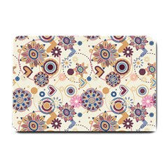 Flower Arrangements Season Floral Purple Love Heart Small Doormat