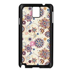 Flower Arrangements Season Floral Purple Love Heart Samsung Galaxy Note 3 N9005 Case (Black)
