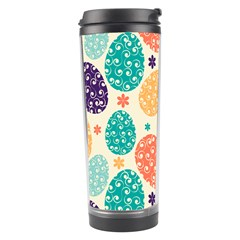 Egg Flower Floral Circle Orange Purple Blue Travel Tumbler