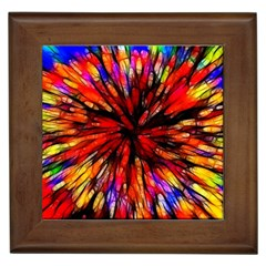 Color Batik Explosion Colorful Framed Tiles