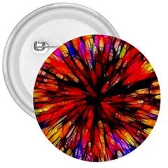 Color Batik Explosion Colorful 3  Buttons