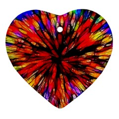 Color Batik Explosion Colorful Ornament (Heart)