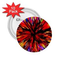 Color Batik Explosion Colorful 2.25  Buttons (10 pack)
