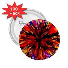 Color Batik Explosion Colorful 2 25  Buttons (100 Pack)