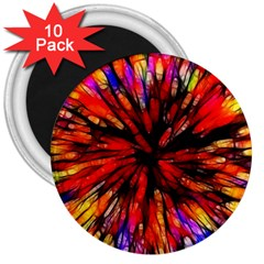 Color Batik Explosion Colorful 3  Magnets (10 Pack)