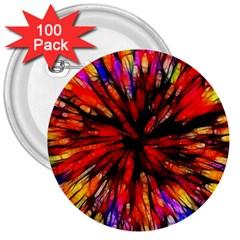 Color Batik Explosion Colorful 3  Buttons (100 Pack)