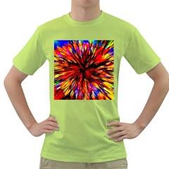 Color Batik Explosion Colorful Green T Shirt