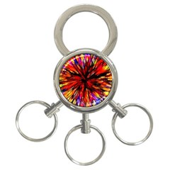 Color Batik Explosion Colorful 3-Ring Key Chains