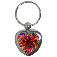 Color Batik Explosion Colorful Key Chains (Heart)