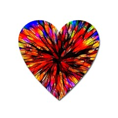 Color Batik Explosion Colorful Heart Magnet