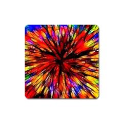 Color Batik Explosion Colorful Square Magnet