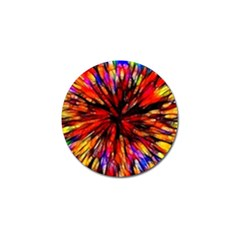 Color Batik Explosion Colorful Golf Ball Marker