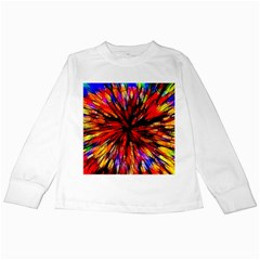 Color Batik Explosion Colorful Kids Long Sleeve T-Shirts