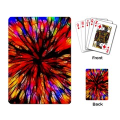 Color Batik Explosion Colorful Playing Card