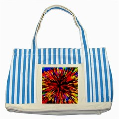 Color Batik Explosion Colorful Striped Blue Tote Bag