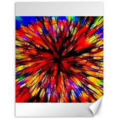 Color Batik Explosion Colorful Canvas 18  x 24