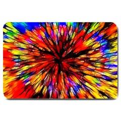 Color Batik Explosion Colorful Large Doormat