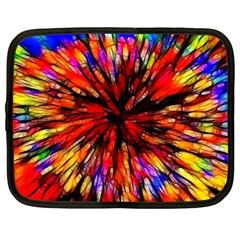 Color Batik Explosion Colorful Netbook Case (large)
