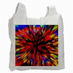 Color Batik Explosion Colorful Recycle Bag (one Side)