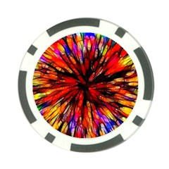 Color Batik Explosion Colorful Poker Chip Card Guard (10 Pack)