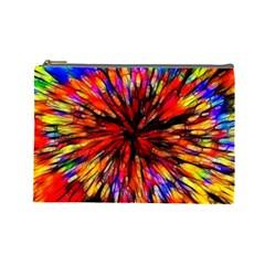Color Batik Explosion Colorful Cosmetic Bag (large)