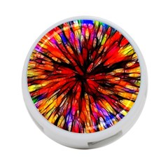 Color Batik Explosion Colorful 4 Port Usb Hub (one Side)