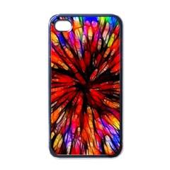 Color Batik Explosion Colorful Apple Iphone 4 Case (black)