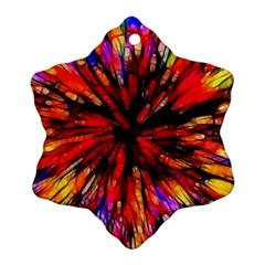 Color Batik Explosion Colorful Ornament (snowflake)