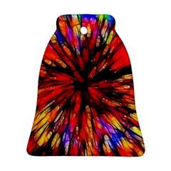 Color Batik Explosion Colorful Ornament (bell)